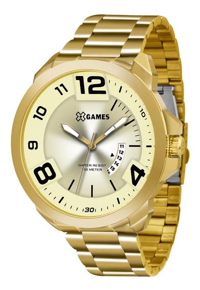 Relógio Xgames Xmgs1016 C2kx Dourado Redondo Aço - Refinado