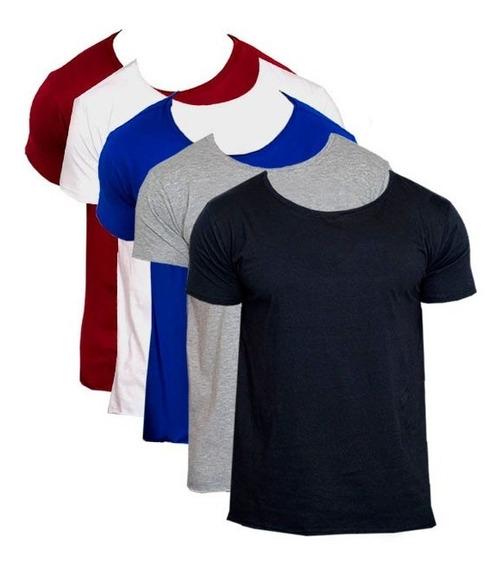 Camiseta Camisa Masculina Gola Canoa Basica Lisa Promoção