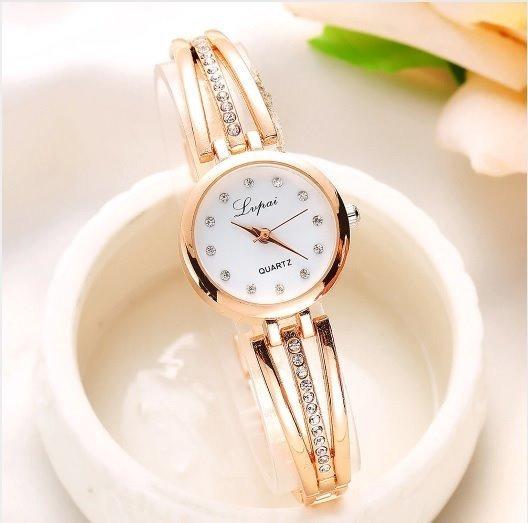 Relógio Feminino Pequeno De Pulso Lindo Decorado Strass Luxo