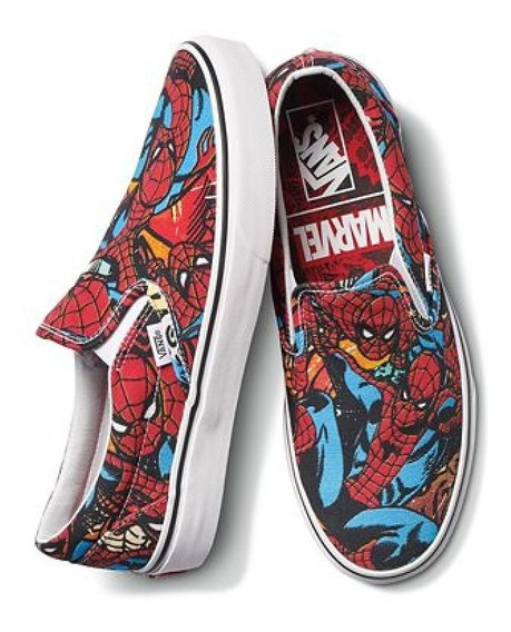 Zapatilla Vans Classic Slip On Marvel Spider Man Vn0a38f79h7