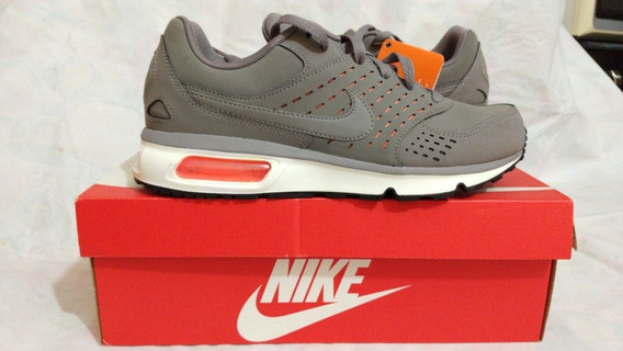Tênis Air Max Solace Leather Couro Cinza Original 41