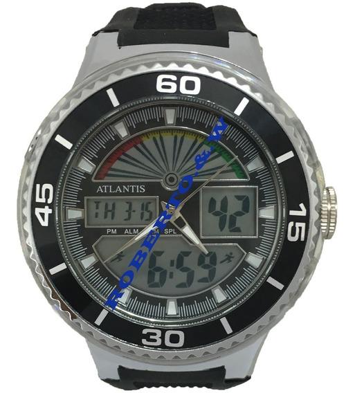 Relógio Masculino Atlantis Analógico Digital Com Borracha