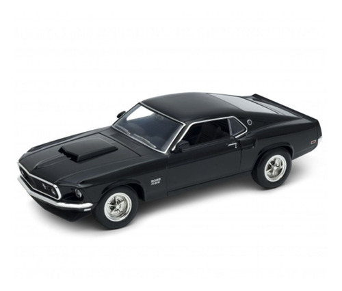 Auto Ford Mustang Boss 1969 Coleccion Welly Escala 1:24 St