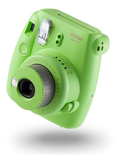 Câmera Instax Mini 9 Instantanea C Flash Verde Lima Fujifilm