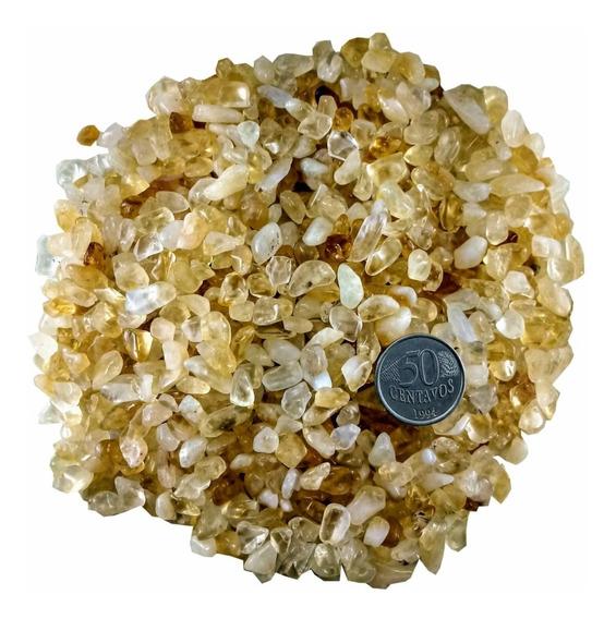 Pedra Cristal Natural Rolada Quartzo Cascalho Citrino 1kg Semi Preciosas Magia Da Pedra