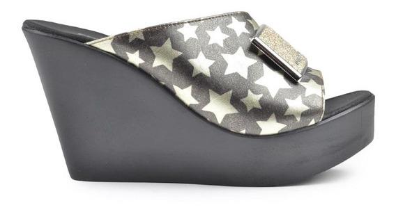 Zapatos Zuecos Zapatillas De Mujer Corcega Negros - Ferraro