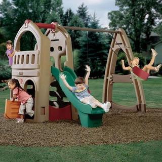Casa Con Columpios Step2 Playhouse Climber & Swing Extension
