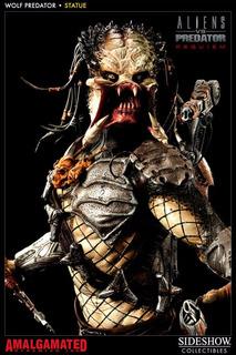 Wolf Predator Sideshow Estatua Premium Format!! Ultima!