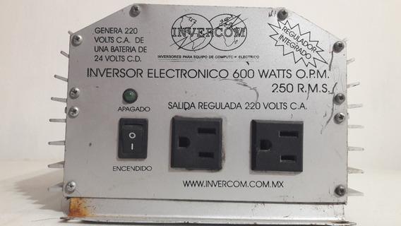 Inversor De Corriente 600 Watts 24vcd A 220vca, Para Piezas