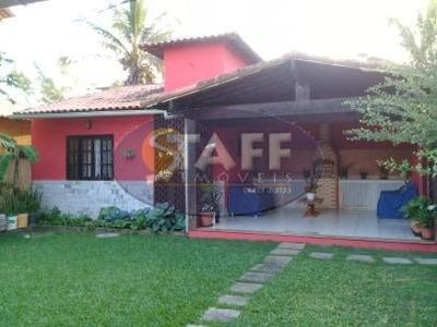 Linda Casa De Praia Dentro De Condomínio, Lado Praia, Com Iptu, Rgi E Toda Mobiliada. - Ca1041