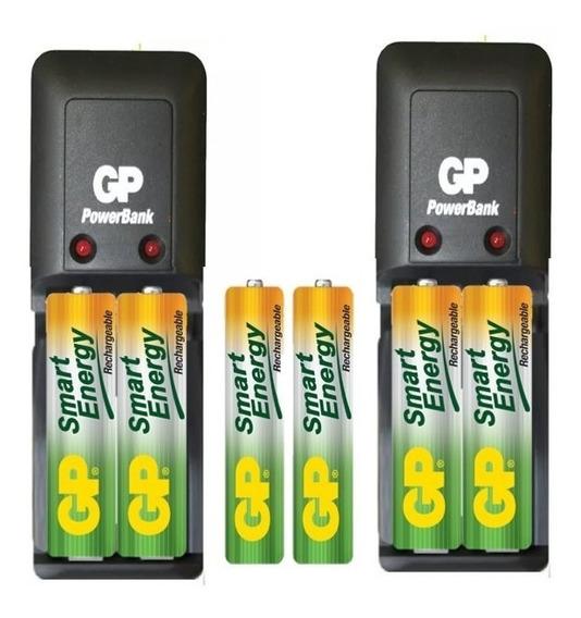 Cargador Gp Smart 2 Con 4aa 1000mah Y 2aaa 400mah
