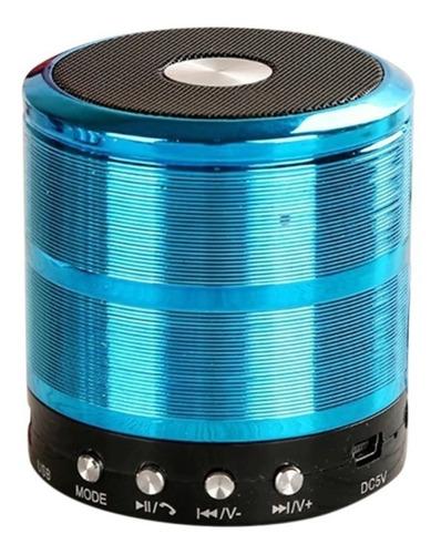 Caixa de som Grasep D-BH887 portátil com bluetooth azul