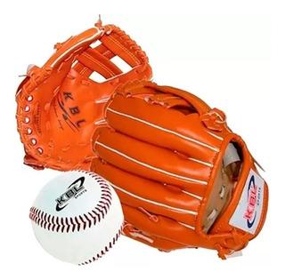 Guante De Beisbol 11 + Pelota Cocida Baseball Kbl Sintetic