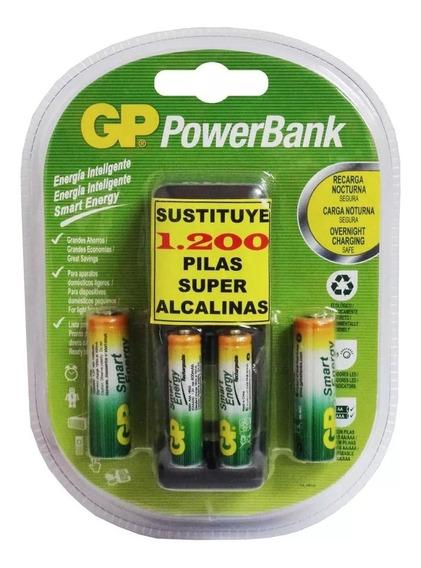 Cargador Gp Baterias 4 Baterías 2 Aa Y 2 Aaa Recargables