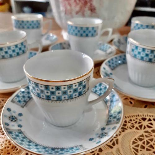 Juego De Café Retro De Porcelana China