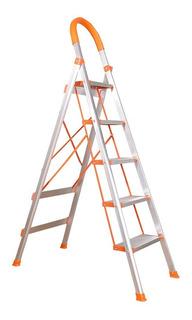Escalera Aluminio Tijera Reforzada 5 Escalones 1,7m Kulbart