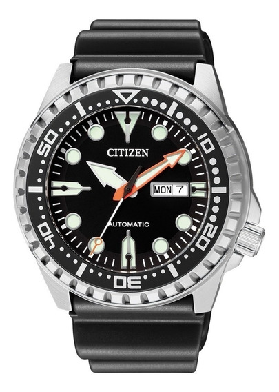Relógio Masculino Citizen Prata Automático Pulseira Borracha
