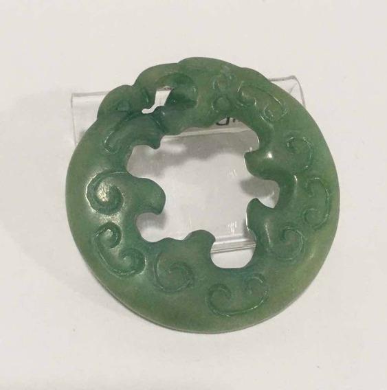 Pingente Antigo Em Jade Antigo