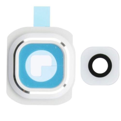 Galaxy S6 Edge Cubierta Camara Lente Cristal Marco Blanco