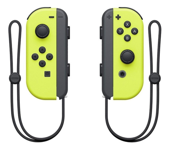 Controle joystick sem fio Nintendo Joy-Con amarelo-néon