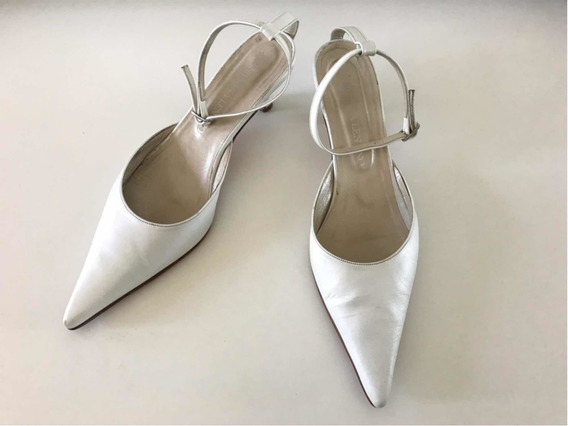 Zapatos Mujer Silvana Lentino Fiesta 38 Blancos