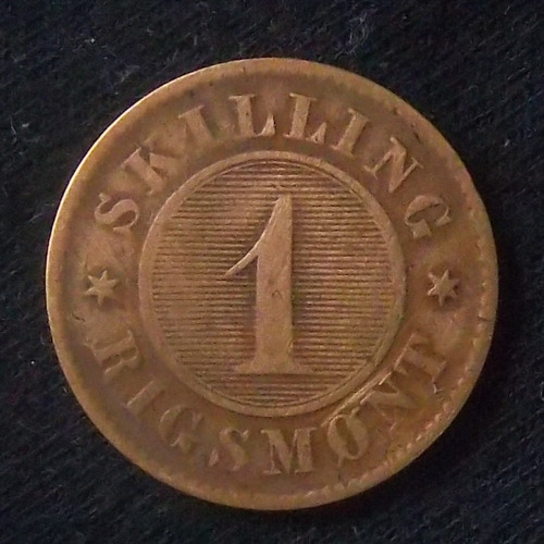 Dinamarca 1 Skilling 1856 Bueno Km 763