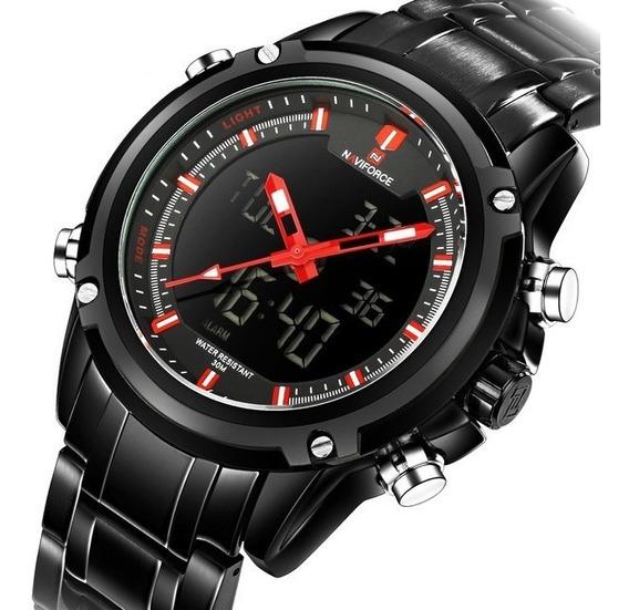 Relógio Naviforce Masculino Racer Esportivo Militar Original