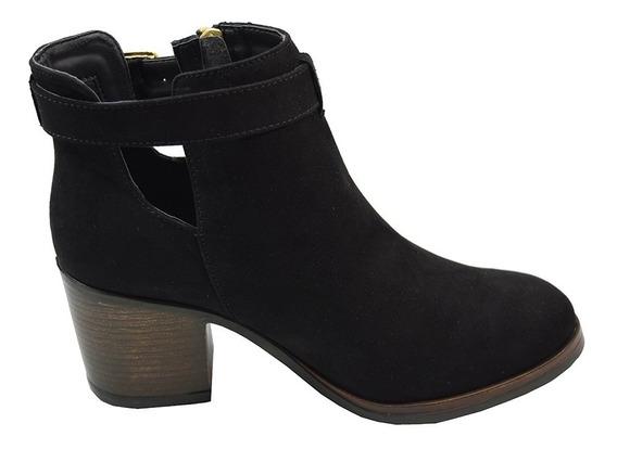 Zapatos Dama Estilo Botin Casual Comodo 33-alice Negro Mosca