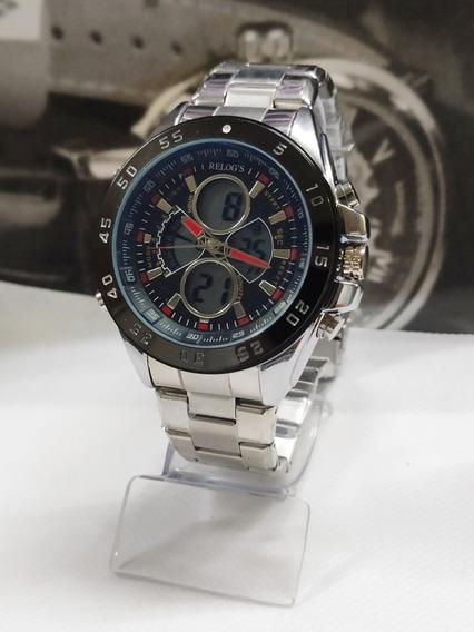Relógio Digital Barato Original Todo Em Aço Inoxidável!!