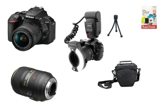 Kit Dentista Nikon D5600 + Lente 105mm Macro + Mk-14ex Novo