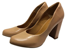 3f4747f62b Sapato Feminino Salto Grosso Nude Fosco Ana Gimenez 855a