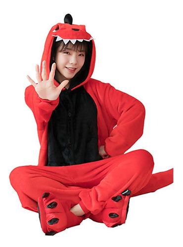 Pijama Dinosaurio Rojo Enterizo Kigurumi Adulto / Lhua Store