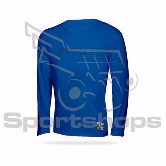 Camiseta De Alta Proteção Solar Adulto Prolife Azul - Pp