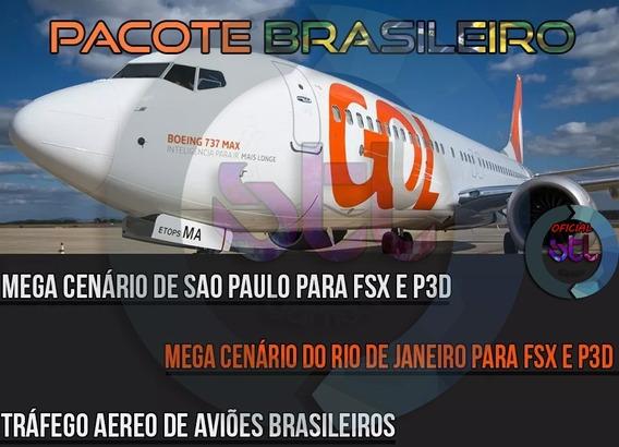 Pacote Simulador Brasileiro Completo Aviao Prepar3d Ou Fsx