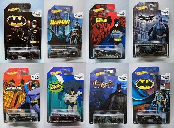 8 Miniaturas Hot Wheels - Edição Especial Batman 75 Anos
