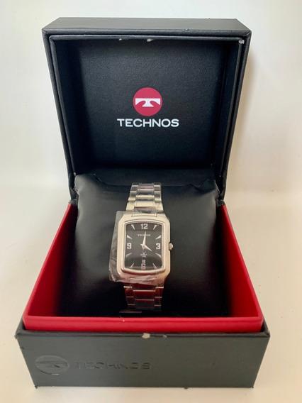 Relógio Technos Quadrado Golf 5 Atm/ Original/ Com Nf+brinde