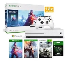 Xbox One S 1tb Nacional + Nf + Batlefield V +1 Mês Game Pass