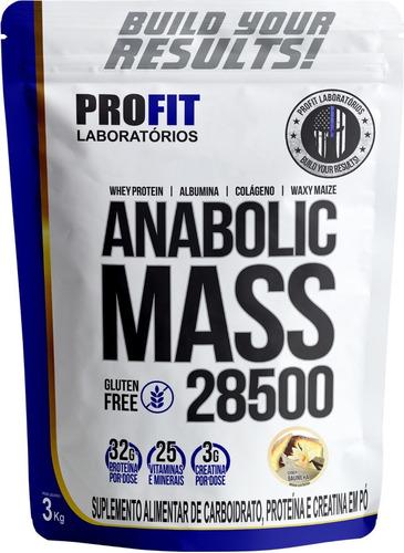 Imagem 1 de 6 de Hipercalórico Anabolic Mass 28500 3kg - Profit Labs