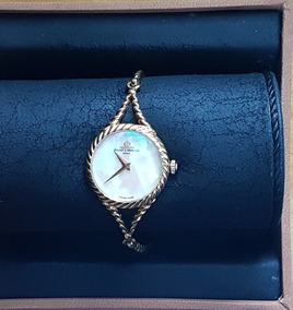 Lindo Relógio Baume & Mercier Fem. A Corda Todo Em Ouro 18k