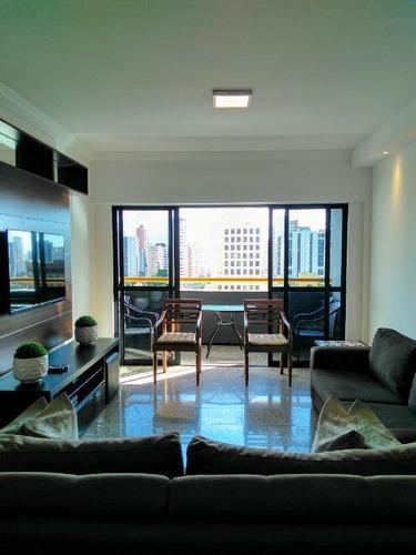 Apartamento Com 4 Dormitórios À Venda, 155 M² Por R$ 725.000,00 - Aldeota - Fortaleza/ce - Ap2171