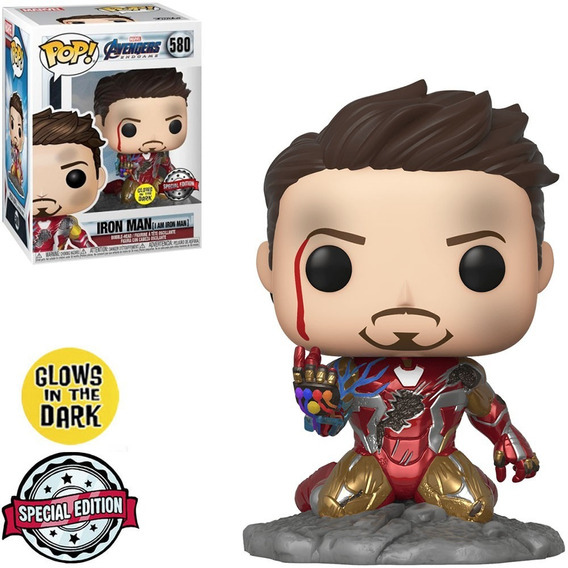 Funko Pop Iron Man Glows In The Dark - Avengers Endgame 580