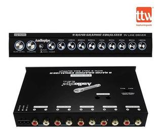 Ecualizador Grafico De 9 Bandas 9v Audiopipe Eq-909x N-i