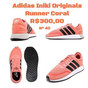 Tênis adidas Originals Iniki Runner Coral