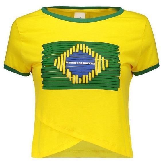 Blusa Cropped Brasil Japurá