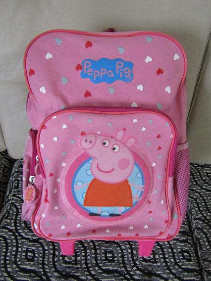 Mochila Peppa Pig Con Carro 14