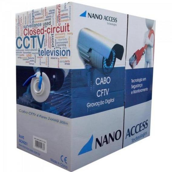 Cabo Cftv Utp 305m 04x24awg Azul Nano Access Com 305 Unidade