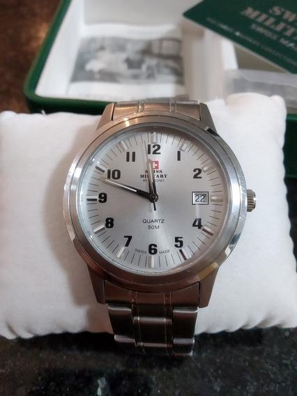 Relógio Suíço Swiss Military Original- Presente Dia Dos Pais