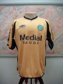 Camisa Futebol Guarani Campinas Sp Umbro Dourada Jogo 2445