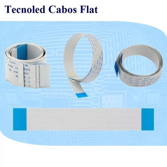 Cabo Flat Cable 16 Vias 15cm 1,00mm Passo Normal