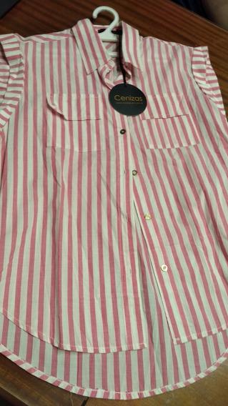 Camisa Cenizas Rayada T Medium